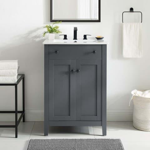 Modway Nantucket 24-inch Bathroom Vanity with Ceramic Top