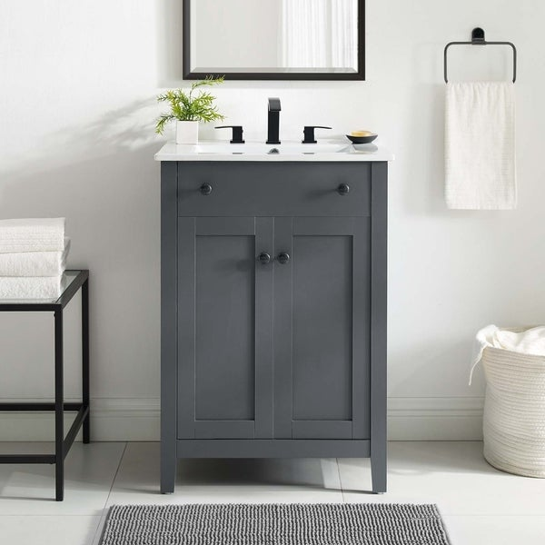 Modway Nantucket 24-inch Bathroom Vanity with Ceramic Top. Opens flyout.