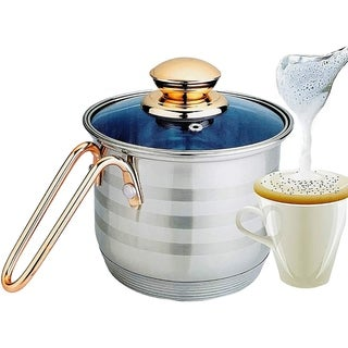 Link to 8 Cup Multi Pot with 7 Layer Encapsulated Base For Even Cooking & Heat Resistant Handle - PFOA Free - Blue Glass Lid Similar Items in Cookware