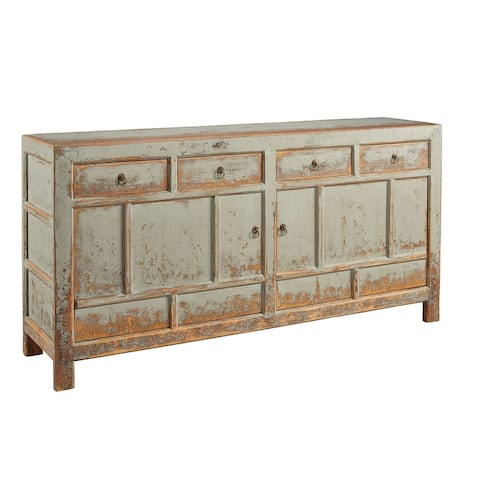 New Haven Distressed Pine Sideboard with Metal Hardware