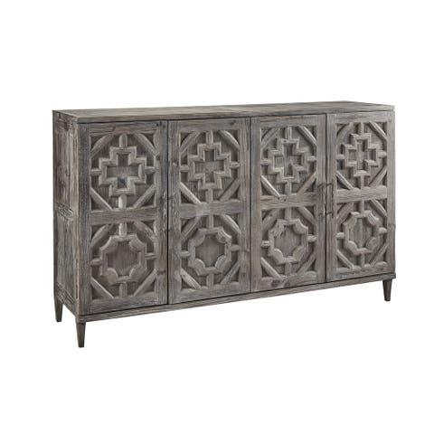 Rotterdam 74-inch Tall Carved Pine Medieval Sideboard Server