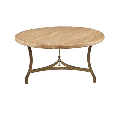 Newport Circular Elm Coffee Table - 36.5-inch diameter