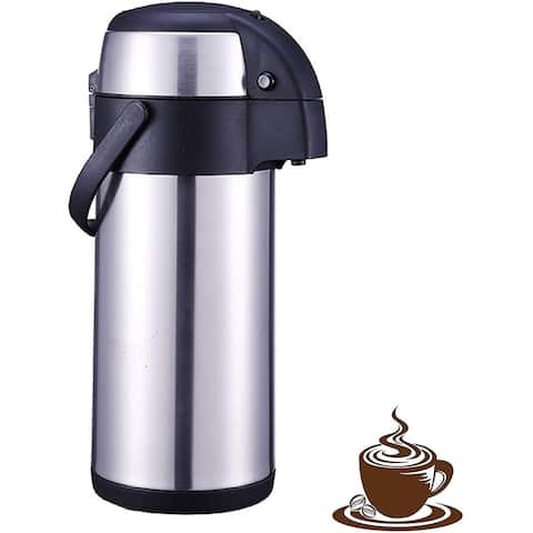 101 Oz (3L) Thermal Coffee Carafe and Coffee Server/Soft Push Button Action/Stainless Steel Insulated Thermos - BPA Free