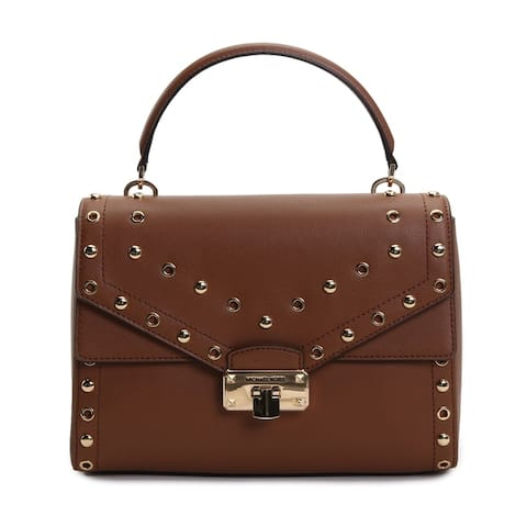 Michael Kors Womens Kinsley Medium Top Handle Satchel Brown 35T9GYKS2L