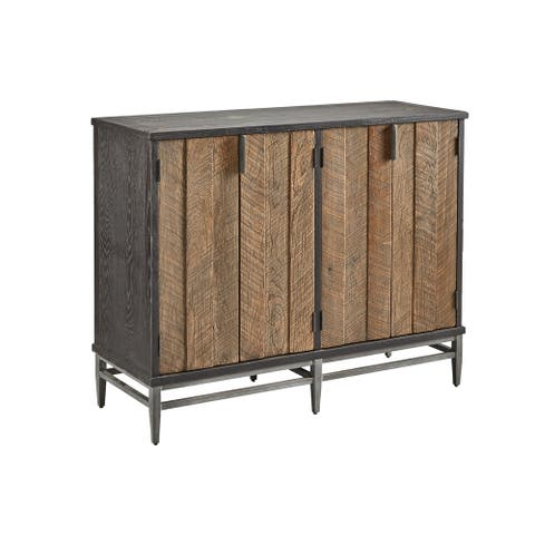 Munich 48-inch Rough Oak Sideboard Server in Grey & Brown
