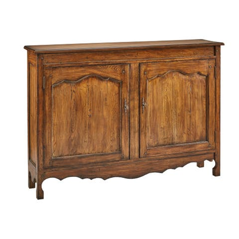 Crawford Tavern Traditional Oak Hall Chest Cabinet