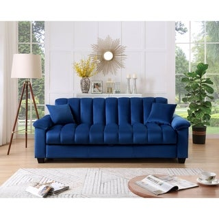 Link to Comfortable Velvet Storage Sleeper Convertible Sofa Bed Similar Items in Sofas & Couches