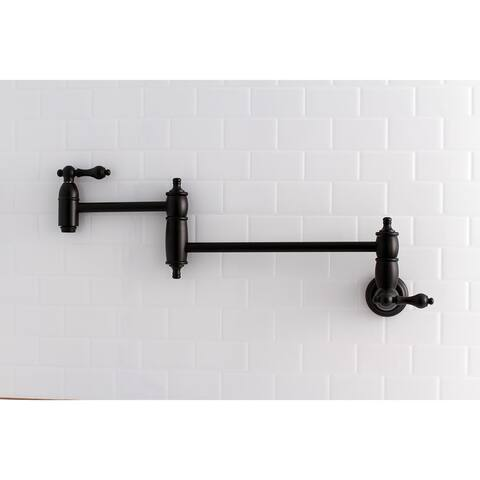 Restoration Wall Mount Pot Filler Kitchen Faucet