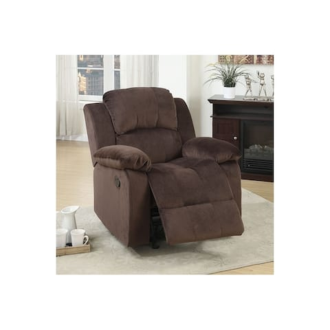 Padded Suede/Metal Reclining Chair