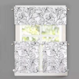DriftAway Ryan Sketch Floral Branch Leaves Pattern Curtain Set