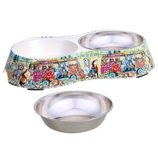 Link to Certified International Peace, Love and Treats Double Serve Pet Bowl Similar Items in Dog Feeders & Waterers