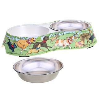 Link to Certified International Dog Park Double Serve Pet Bowl with Insert Similar Items in Dog Feeders & Waterers