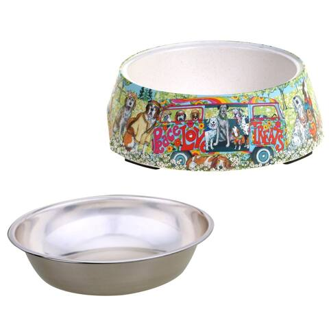Certified International Peace, Love and Treats Pet Bowl with Insert