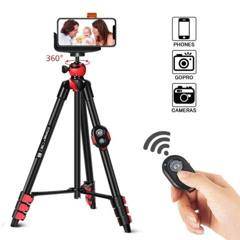 Zomei Portable Camera Mount Tripod Stand w/ Phone Clip, BT Remote