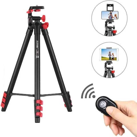Zomei T80 Portable Camera Mount Tripod Stand w/ Phone Clip, BT Remote