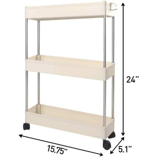 Narrow Storage Cart 3 Tier Slim