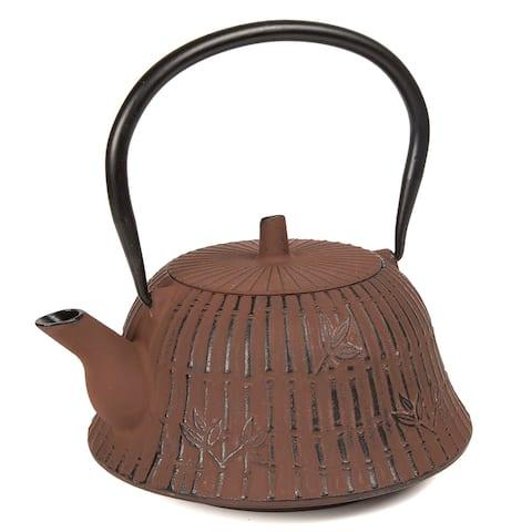 Creative Home 40 oz Brown Cast Iron Tea Pot