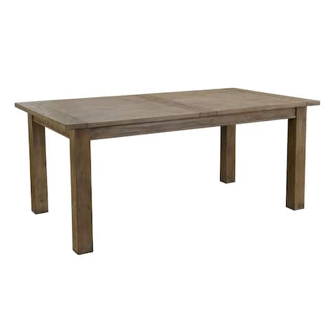 94 Inch Plank Style Reclaimed Wood Dining Table with Extendable Leaf, Brown