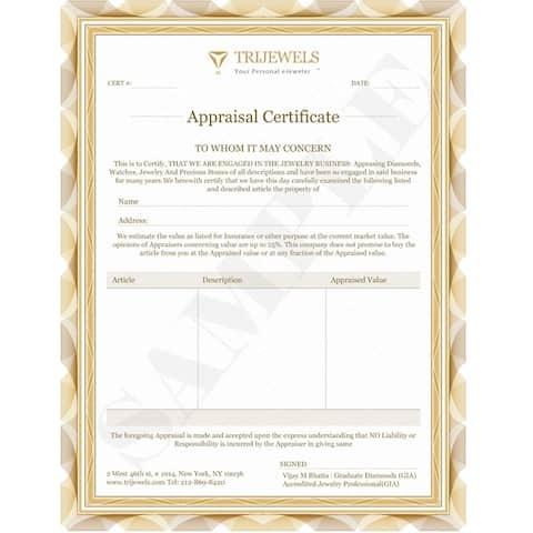 TriJewels Aquamarine Diamond 1/3 ctw 9 Stone Wedding Band 14KW Gold