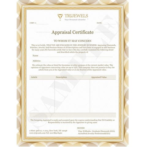 TriJewels Aquamarine Lab Grown Diamond 1/3 ctw Wedding Band 14KW Gold