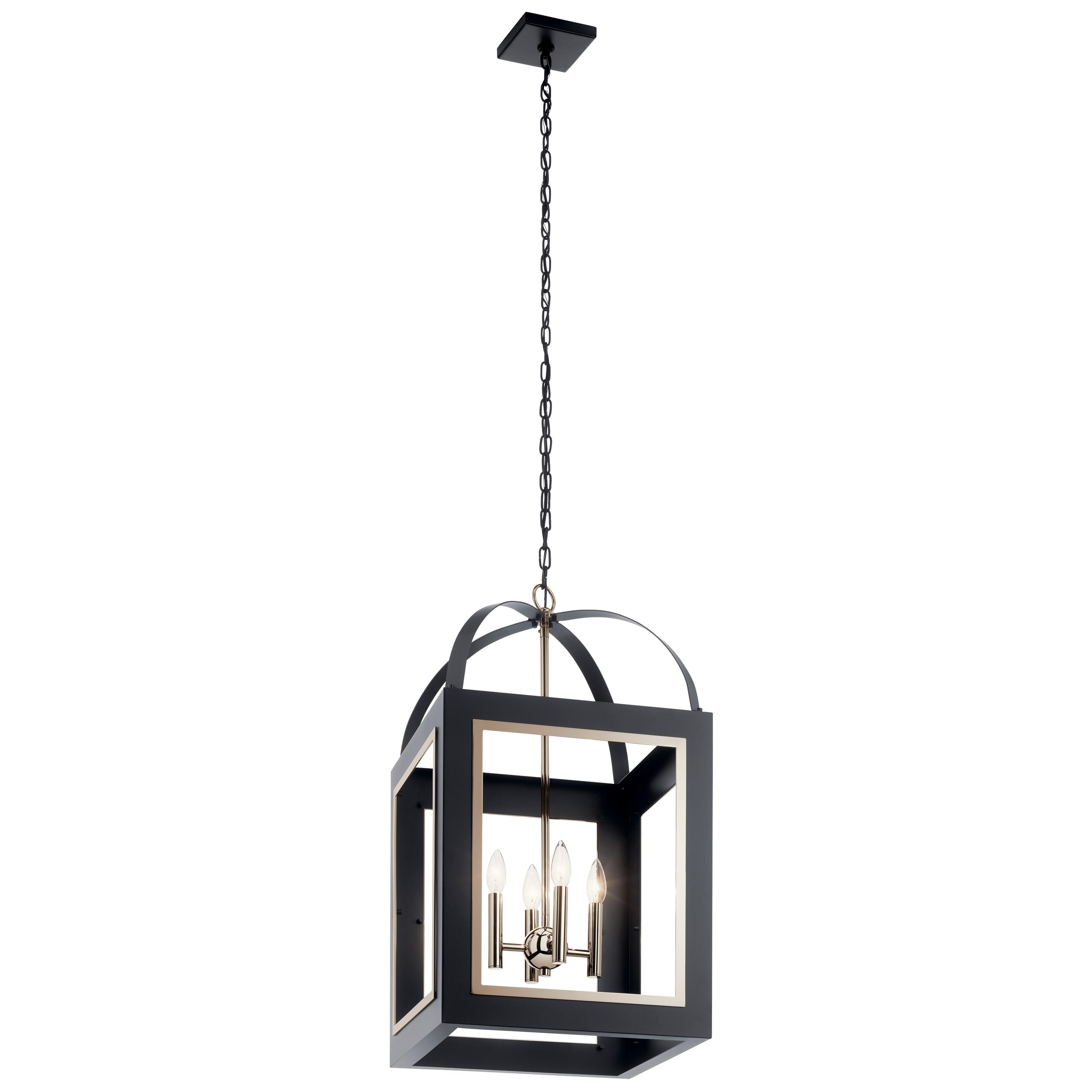 Shop Black Friday Deals On Kichler Lighting Vath 4 Light Large Foyer Pendant Black Overstock 30947984