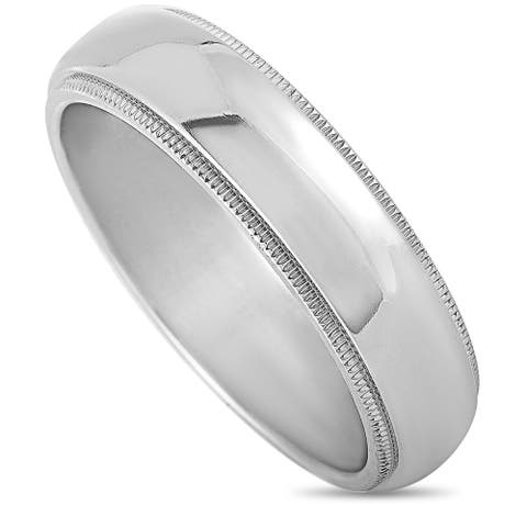 Tiffany & Co. Platinum Wedding Band Ring Size 11