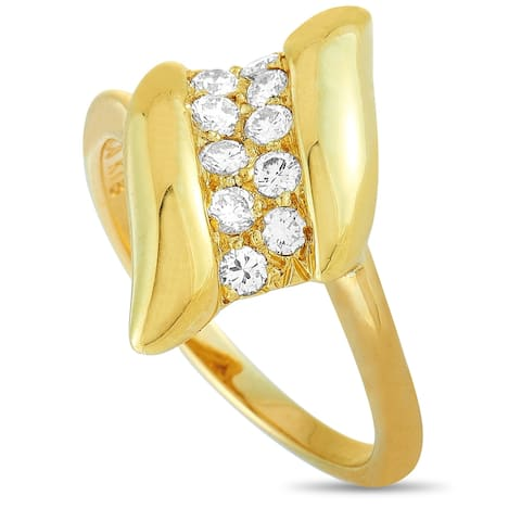 Tiffany & Co. Yellow Gold and 0.25 ct Diamond Ring Size 6