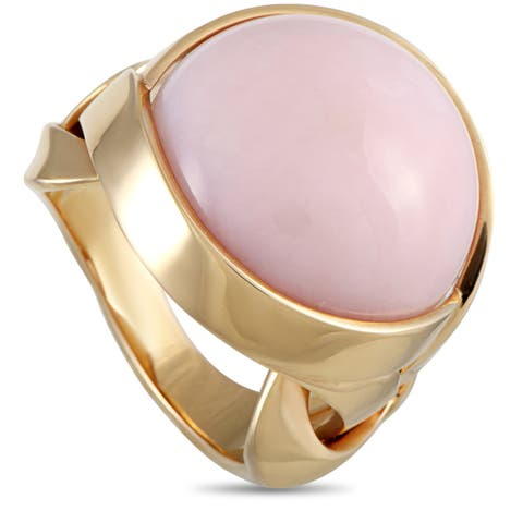 Versace Rose Gold and Coral Ring Size 8.5