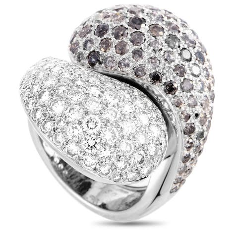 Cartier Le Yin et Le Yang White Gold Diamond Pave Ring