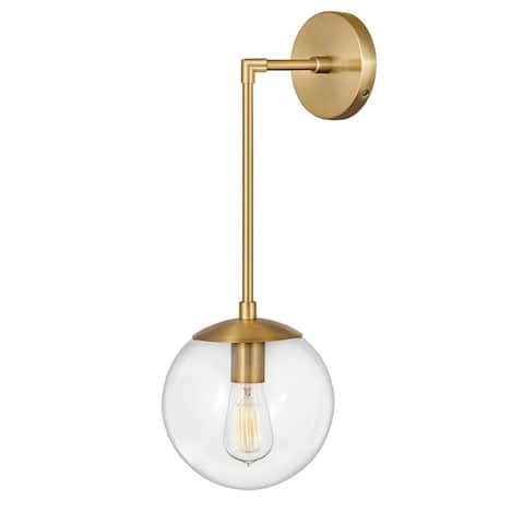 Warby 1-Light Wall Mount Heritage Brass Sconce - N/A