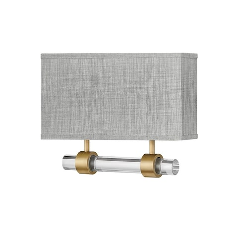 Luster 2-Light Wall Mount Heritage Brass Sconce