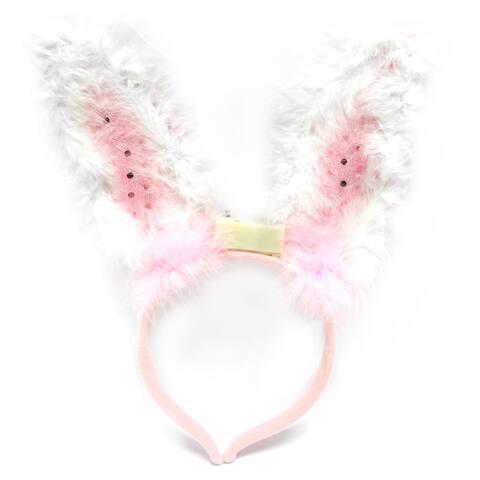 Easter Fun Light Up Bunny Ears Headband (Single)