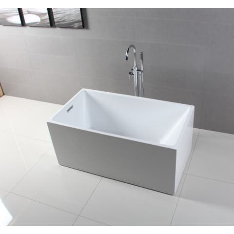 51-Inch Acrylic Freestanding Tub with Drain in White