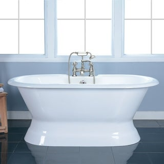 Link to 60-in Cast Iron Double Ended Pedestal Tub with 7-in Faucet Drillings Similar Items in Bathtubs