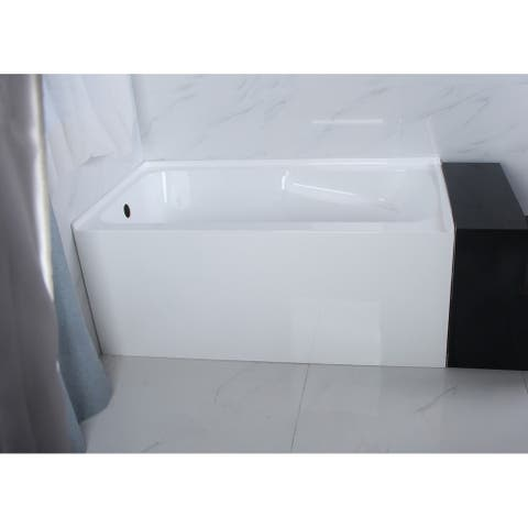 54-Inch Acrylic Alcove Tub with Arm Rest