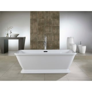 Link to 66-in Acrylic Double Ended Pedestal Tub with Overflow and Drain Similar Items in Bathtubs