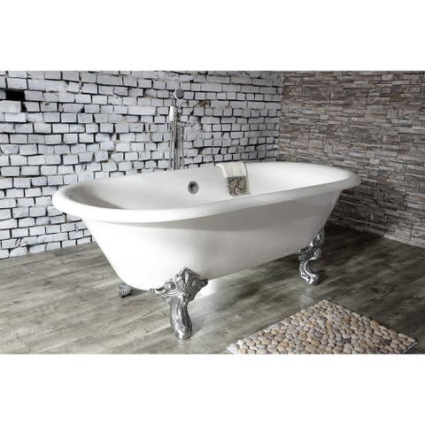 72-in Cast Iron Double Ended Clawfoot Tub (No Faucet Drillings)