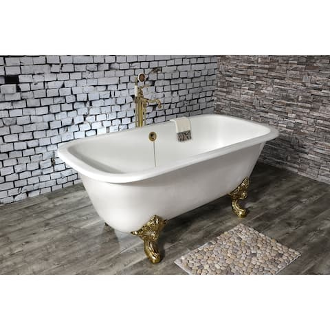 67-in Cast Iron Double Ended Clawfoot Tub (No Faucet Drillings)