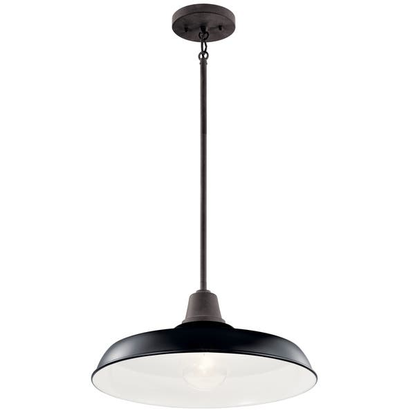 Shop Black Friday Deals On Kichler Lighting Pier 1 Light Outdoor Pendant Semi Flush Black Overstock 30949487