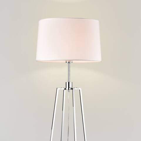 Clara Chrome 1 Light Laminated Glass Shade Floor Lamp