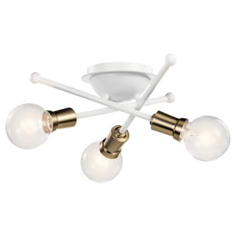Kichler Lighting Armstrong 3-Light Flush Mount White