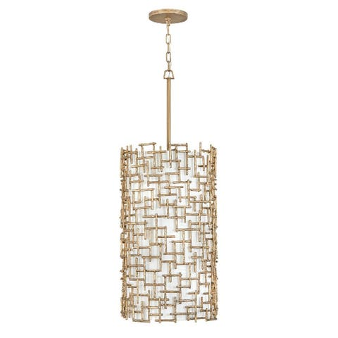 Fredrick Ramond FR33108BNG Nine Light Foyer Pendant Farrah Gold - One Size