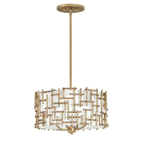 Fredrick Ramond FR33103BNG Four Light Chelier Farrah Burnished Gold - One Size