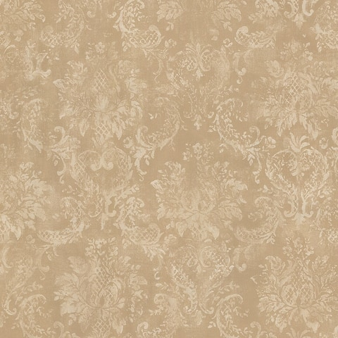 Pinecrest 32.7 Ft. x 20.5 In. Canvas Damask Wallpaper