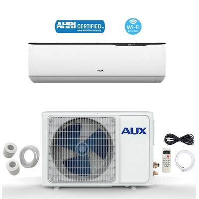 AUX 12000 BTU MINI Split Ductless Air Conditioner 115V 12Ft WiFi White