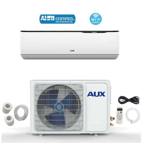 AUX 12000 BTU MINI Split Ductless Air Conditioner 115V 12Ft WiFi White