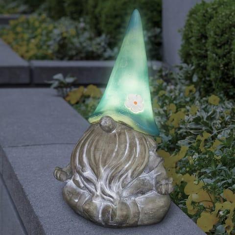 "Solar Gnamaste Gnome Teal Hat - 7.0"" x 6.0"" x 11.5"""