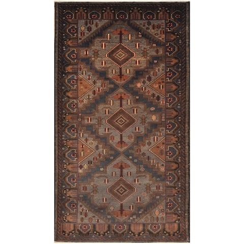 Handmade One-of-a-Kind Balouchi Wool Runner (Afghanistan) - 3'9 x 6'7