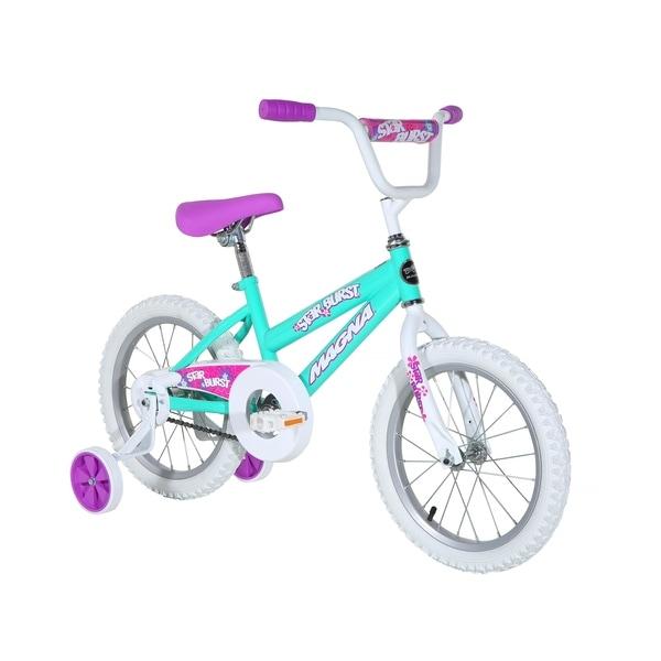 """Magna Starburst 16"""" Bike - Teal - For Ages 4-8. Opens flyout."""