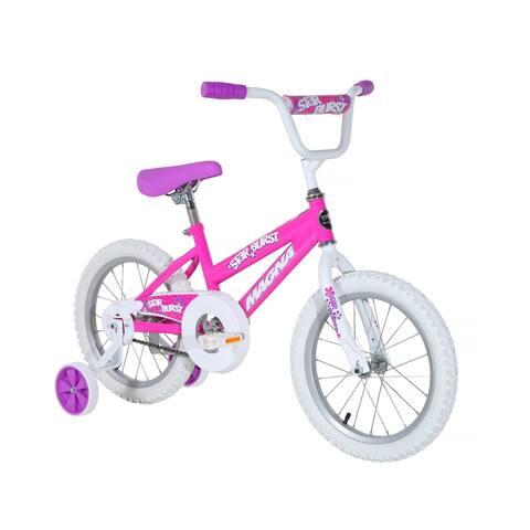 """Magna Starburst 16"""" Bike - Pink - For Ages 4-8"""
